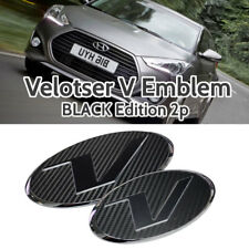 V Emblem Black Style Front Grille + Rear Trunk for HYUNDAI 11-18 Veloster Turbo