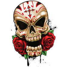 """Best Of Skulls"" Temporary Tattoo, Sugar Skull & Roses, Calavera, Made in USA"