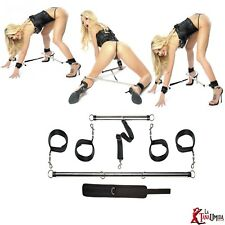 bondage doppia asta costrittiva bdsm collare manette e cavigliere polsini erotic