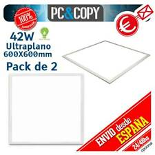 R1269 Pack 2 Panel LED 42W 60x60 Ultraplano Luz Blanca 600X600mm Empotrable Fals