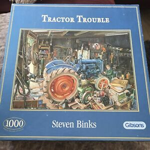 GIBSONS 'Tractor Trouble' 1000 Piece Jigsaw Puzzle