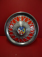 "Vespa PX/e 125 150 200 & T5 Cuppini Chrome 10"" Wheel Trims with Red Plastic Back"