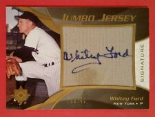 WHITEY FORD 2009 UPPER DECK ULTIMATE COLLECTION JUMBO JERSEY AUTO BASEBALL CARD