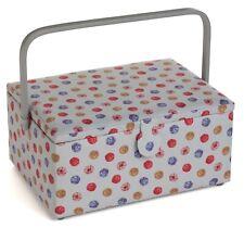 SEWING BASKET BOX 'KNIT 'N' PEARL' DESIGN Large Size SUPER QUALITY HGL573