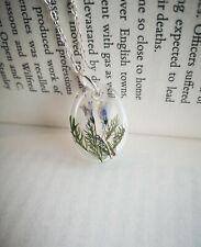 Handmade Real Flower Art Cute Purple Elegant Pendant Necklace Summer Jewellery