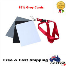 Photography Studio Digital Black White Grey Color Balance Cards 18% Gray Cards