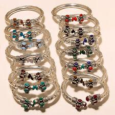 Wonderful Lot 14P- Silver Plated Cuff Jewelery B36990