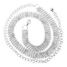 Fashion 5-Rows Crystal Rhinestone Waist Chain Dress Belt Bikini Beach Belly