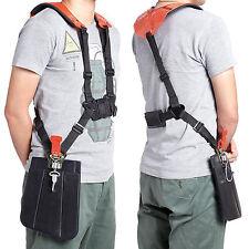 Strimmer Double Shoulder Harness Strap For Brush Cutter & Trimmer w/ Carry Hook