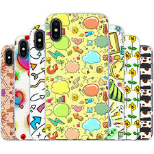 dessana Doodle Skizze TPU Silikon Schutz Hülle Case Handy Tasche Cover für Apple