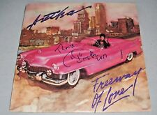 "ARETHA FRANKLIN signed autographed ""FREEWAY OF LOVE"" LP RECORD BECKETT COA BAS"