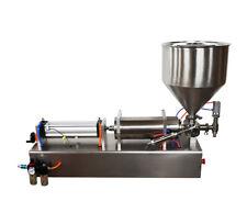 110V Liquid Cream Filling Machine 1000-5000ml Larger Pump with Hopper SS New