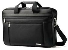 """Samsonite Classic Business Cases, 17"""" Two Gusset Laptop Briefcase in Black"""