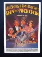 Filmplakatkarte / moviepostercard  cinema  Sein oder Nichtsein  Mel Brooks