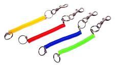 4 stk. Schlüsselanhänger Schlüsselring Stretch Kunststoff Spiral Spiralkabel NEU