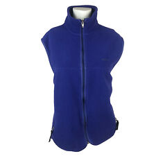Patagonia Womens Vest Full Zip Purple Sleeveless Fleece 2 Pockets Medium