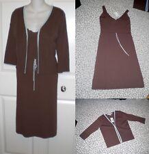 NWT~ MAX STUDIO 2 Piece Dress+ Jacket Set - Suit Knitwear~S