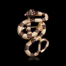 Pin Collar Women Jewelry Party Gift Fashion Vintage Crystal Snake Animal Brooch