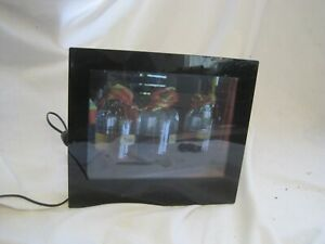 """FULLY WORKING Black DIGITAL PHOTO FRAME by Proline 8"""" Touch Screen PL-DPF 804B"""