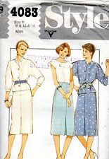 1980s Style Sewing Pattern 4083 Misses Unlined Jacket Skirt Pullover Top 10-14