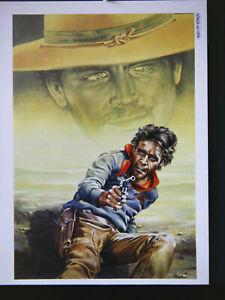 Originalzeichnung RONCO Heft  322 Titelbild Günther König Western Cover signiert