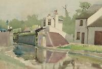 Clifford H. Thompson (1926-2017) - 1950 Watercolour, Canal Lock
