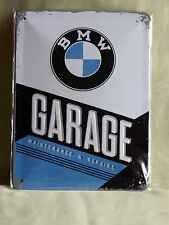 Blechschild BMW GARAGE  15 x 20 cm Auto  NEU/OVP