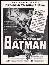 BATMAN - Serial __Original 1954 Trade print AD / theatre promo__COLUMBIA__Robin