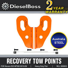Rated Tow Recovery Point Pair for Nissan Navara D23 NP300 2015 - Onwards
