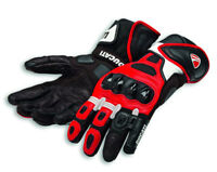 DUCATI Alpinestars SPEED AIR C1 Racing Leder Handschuhe Gloves rot weiß NEU !!
