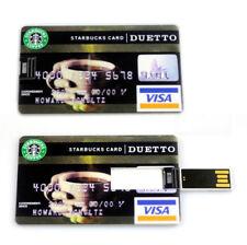 Slim Waterproof Starbucks DUETTO Card Model USB2.0 16GB Flash Drive Memory Stick