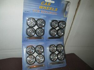 4 sets 1/24 replace or custom dub spinners 24 wheels & tires diorama customize