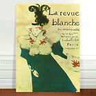 "Stunning Vintage French Poster Art ~ CANVAS PRINT 24x18"" La Revue Blanche"