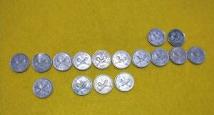 New Zealand lot of 16 different years 3pence threepence coins