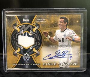 2014 Topps MLS Camilo Sanvezzo GOLD Auto Relic CARD /50 gold Autograph Patch
