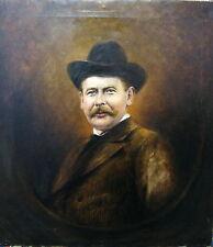 Gemälde Ölgemälde Bild Carl Bähr Blankenburg Mann Hut 1900 Porträt Art Deco