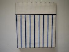 TOMMY HILFIGER Blue and White Stripe Flat Sheet Twin Size Cotton EUC
