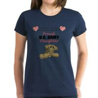 CafePress Proud US Army Daughter Women's Dark T Shirt Womens T-Shirt (201126284)