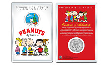 Peanuts Snoopy w Christmas Tree JFK Kennedy Half Dollar U.S. Coin with 4x6 Lens
