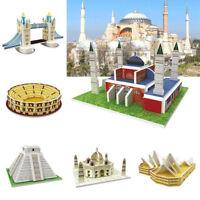 Children Kids 3D Puzzle Wold Famous Buildings Model DIY Educational Toy 1 Pcs