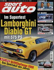 sport auto 7/00 2000 Audi A3 1.8 T Geiger Chrysler Viper GTS Lamborghini Diablo