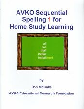 Sequential Spelling 1 for Home Study Learning by Don McCabe Language Arts