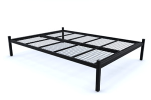 Warwick Reinforced Strong Metal Platform Bed with Mesh Base - 10 Years Guarantee