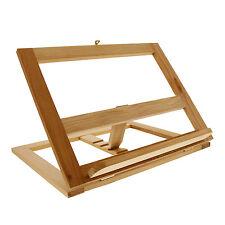 US Art Supply Large Wood Bookrack Tabletop Easel & Cookbook Holder