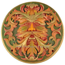 Green Man - Jack in the Green -  Wall Plaque Oberon Zell - Autumn Finish