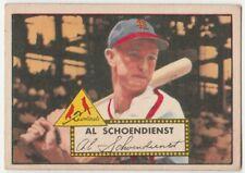 1952 Topps #92 Al Schoendienst  Red back St. Louis Cardinals