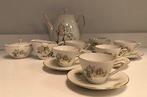 Winterling BAVARIA WIG 1319 Porcelain Tea / Demitasse / Expresso Set
