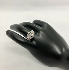 14k Solid White Gold Genuine Diamond Coctail Ring