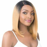 Brazilian blonde ombre short bob wigs pre plucked straight lace frontal wig 1b27