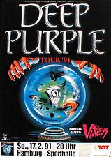 DEEP PURPLE Konzertplakat von 1991